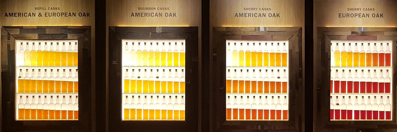 Was passiert im Whiskyfass? Demonstrationsaufbauin der Glengoyne Destillery in den Highlands
