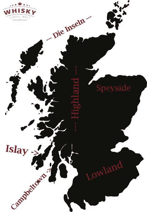 Die Whiskyregionen Schottlands im Überblick