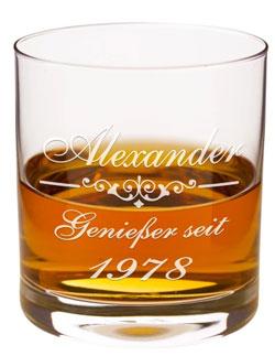 Ein Whiskyglas mit Gravur - ein individuelles Geschenk