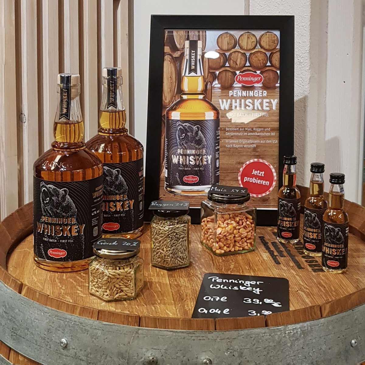 Der amerikanische Bourbon von Penninger ist in 18 Monate Deutschland fassgelagert.
